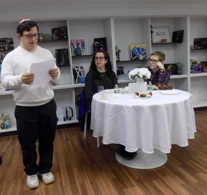 From left: Avi Tsadok, Arielle Zellis Paley, Netanel Paley